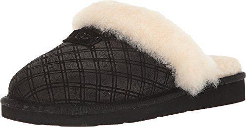 b22a0f5b49c Ugg Women's Cozy Double Diamond Holiday Box Black Slippers 10 M ...
