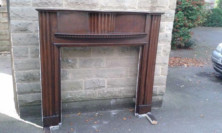 Oringinal 1930's Fire surround - mahogany | Newcastle, Tyne and Wear | Gumtree