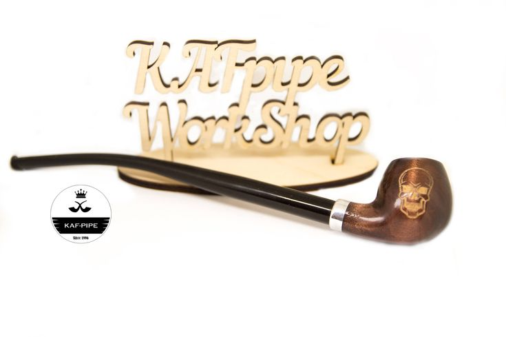 """Churchwarden pipe """"Skill"""" Long wooden tobacco pipe for smoking Smoking pipe from Lord of the Rings/Personalized pipe/Anniversary gift +pouch by KAFpipeWorkshop on Etsy"""