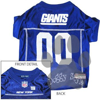 Pet's First Officially Licensed New York Giants Dog Football Jersey http://doggystylegifts.com/products/pet-s-first-officially-licensed-new-york-giants-dog-football-jersey