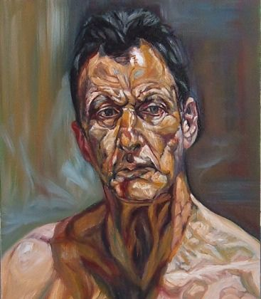 Self Portrait, by Lucien Freud. I have looked at this to portray an image of Freud without the stretched and distorted effects applied by Bacon, in a series of three paintings.