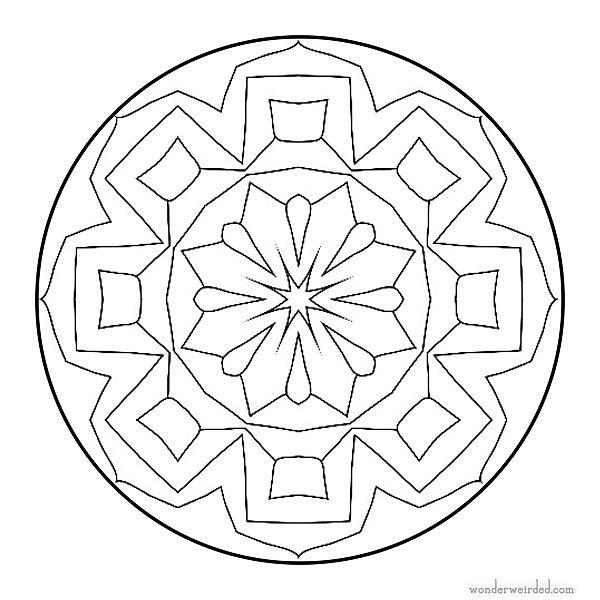 Mandala Star Coloring Page 9 Simple