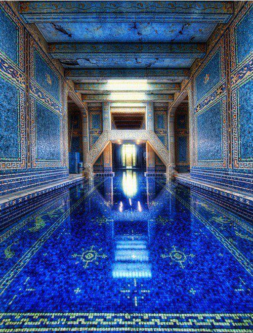 Azure Indoor Pool, Hearst Castle, California: Indoor Pools, Romans, Trey Ratcliff, Swim Pools, Blue, Color, California, Hearst Castles, Places