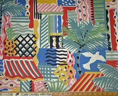 """""""Côte d'Azur"""", designed by Susan Collier and Sarah Campbell as part of their 1983 Six Views collection for Collier Campbell."""