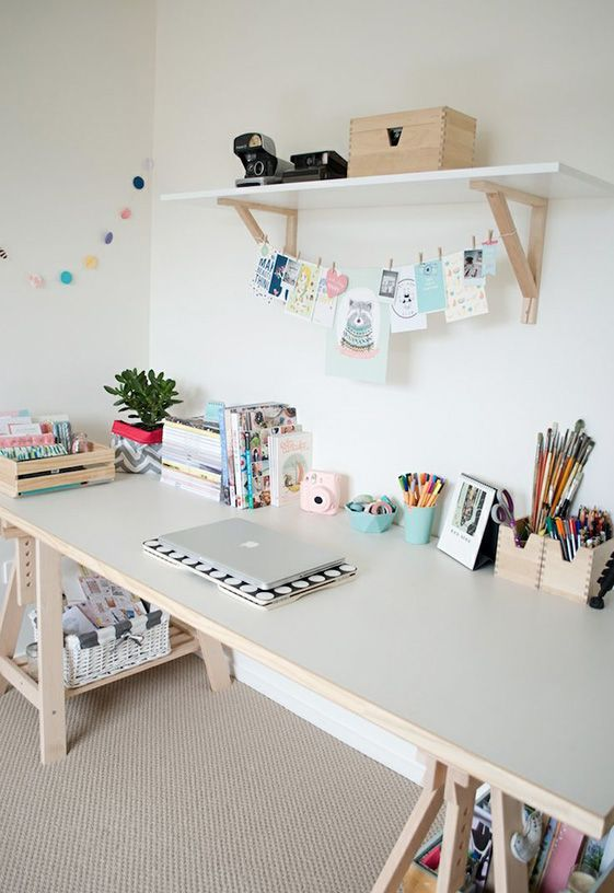 I do wish my Studio had such OPEN WORK SURFACES! Seem to ALWAYS have so many projects going!