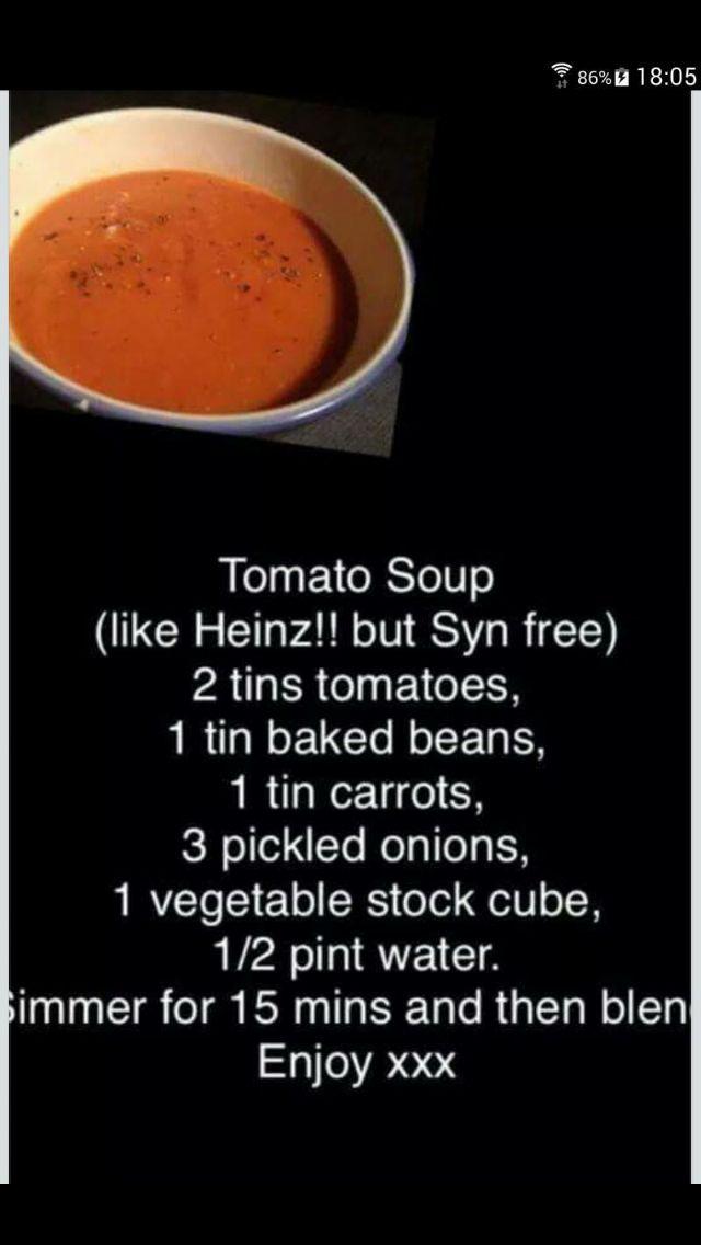 Super speedy tom soup