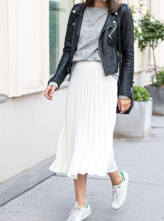 CLICK & BUY :) Weißer Sommerrock mit Metallfalten und Gummizug …, #cli – Sommer Kleider