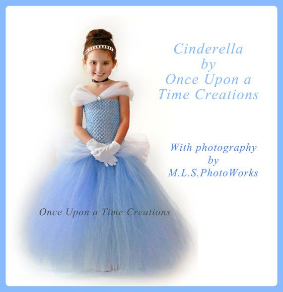 Cinderella Inspired Princess Tutu Dress - Halloween Costume - 12M 18M 2T 3T 4T 5T - Disney Cinderella Inspired on Etsy, $59.99