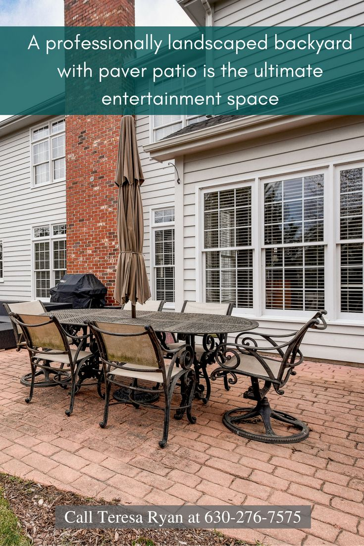 Enjoy barbecue parties on your paver patio with fire pit of this home for sale in Naperville.