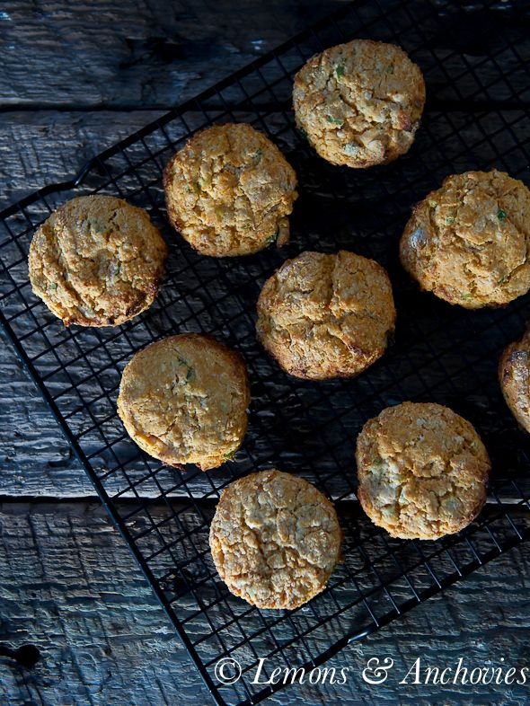 Sweet Potato Scallion Biscuits. This version is #eggfree with no cheese and uses #einkorn flour but the recipe works using traditional ingredients, too.  It's cheesy from nutritional yeast.