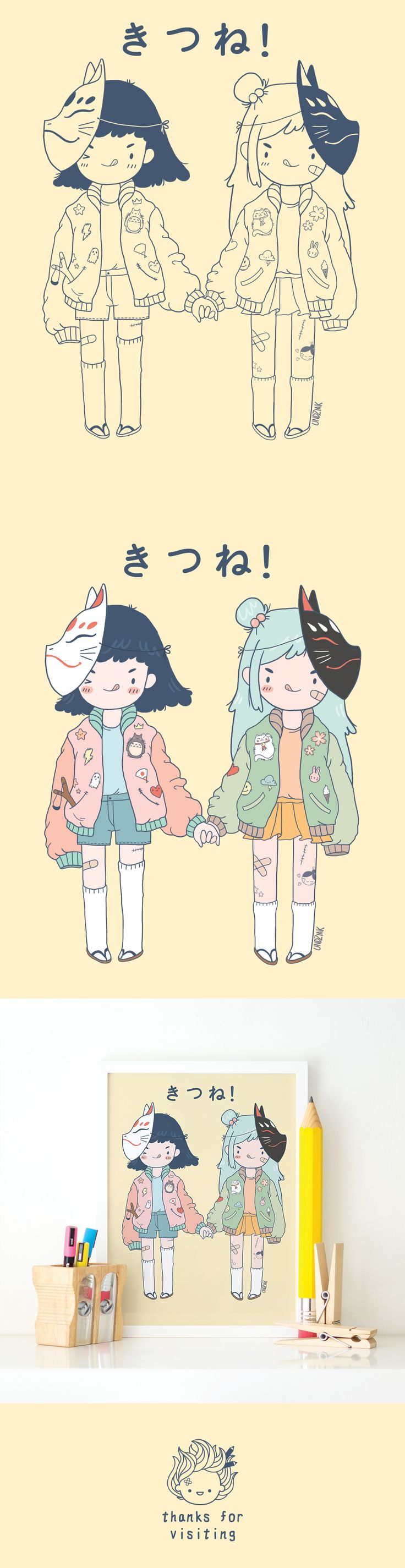 """Check out this @Behance project: """"Japanese Grils! - character design"""" https://www.behance.net/gallery/45352771/Japanese-Grils-character-design"""