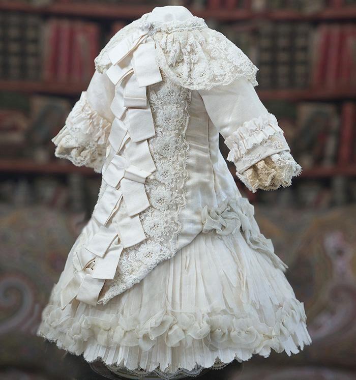 "Antique French Silk Satin Dress for Jumeau, E.J., Bru, Steiner, Eden bebe doll about 20-21"""