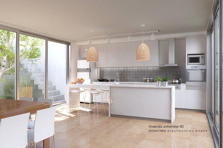 #Diseño interior cocina comedor / Estudio proyectarq #arquitectura  / Rosario / Argentina