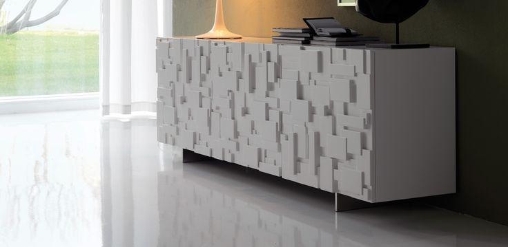 Labyrinth moderní bílá komoda / cabinet
