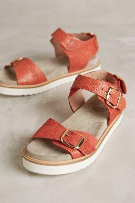 Coqueterra Mint Sandals Red Sandals #anthrofave #anthropologie