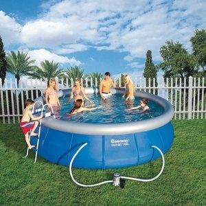 Piscina Inflável Bestway Fast Set 4,57m x 1,07m - 12400 Litros. #piscinabestway #calorverao