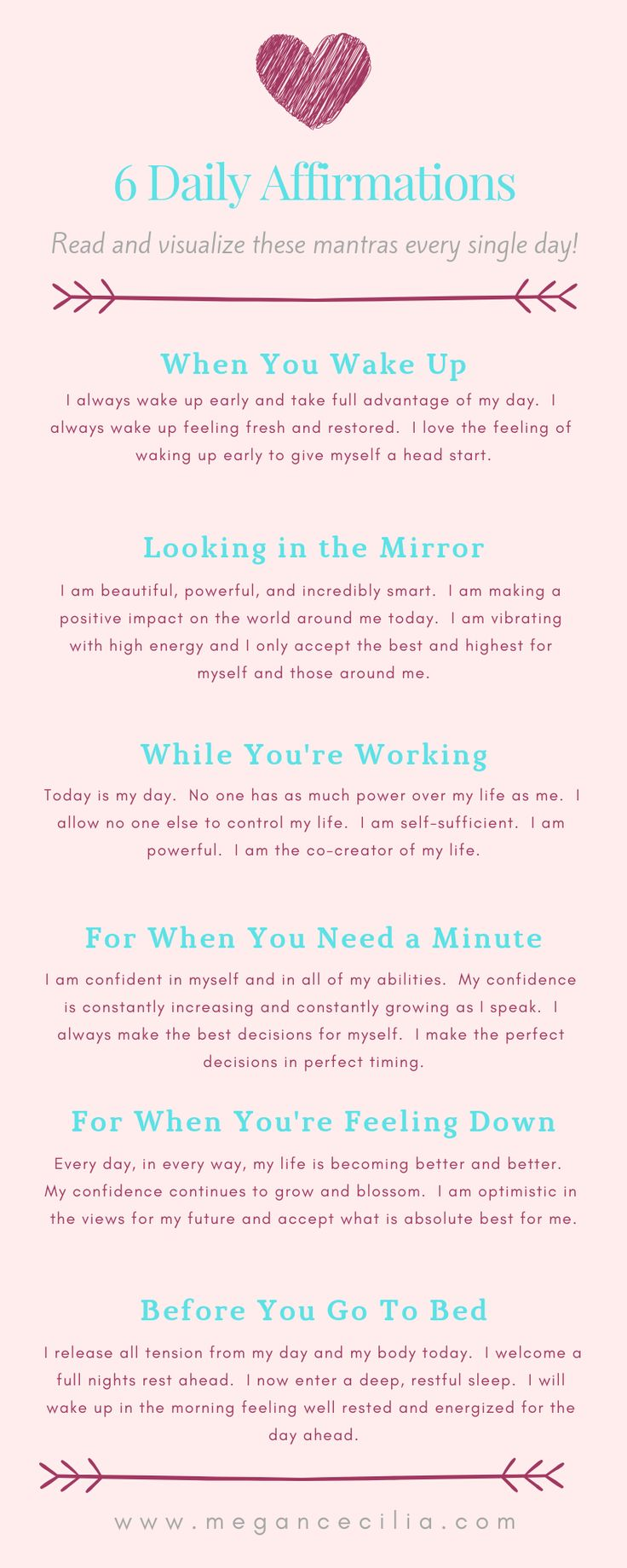 6 Daily Affirmations
