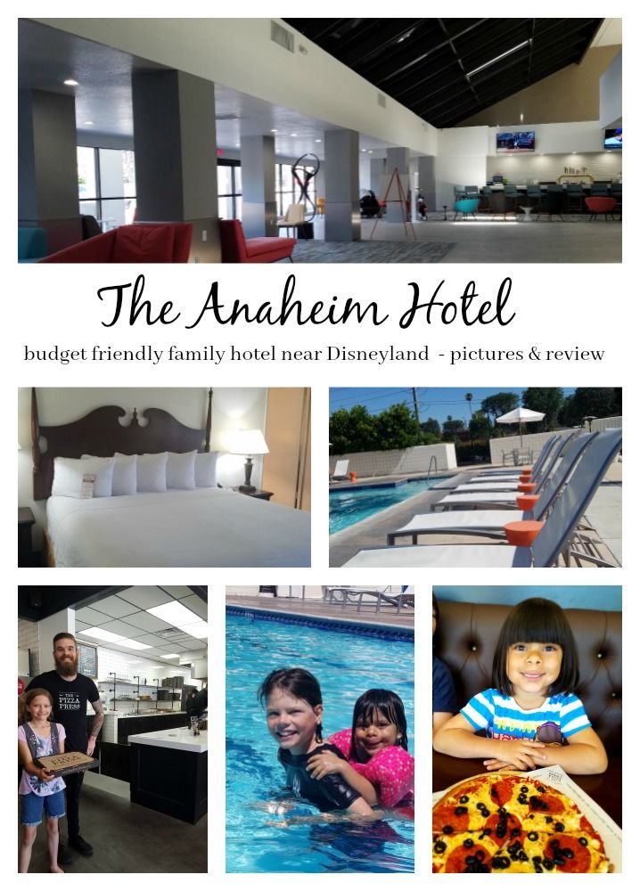 review and pictures of the Anaheim Hotel. budget friendly hotel across the street from Disneyland. Restaurant on site, Olympic sized pool, newly renovated, inexpensive parking, no Resort fee.  3 star no frills hotel that is clean and cute and updated! Check out our review ( ad ) Highlights Along the Way