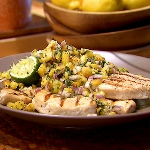 Mako Shark with Grilled Pineapple Salsa The 7 Most Delicious Shark Recipes Food & Drink picture