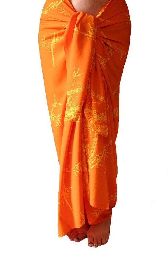 Yellow Bamboo Sarong Women's or Men's Beach Clothing by PuaWear, $39.00