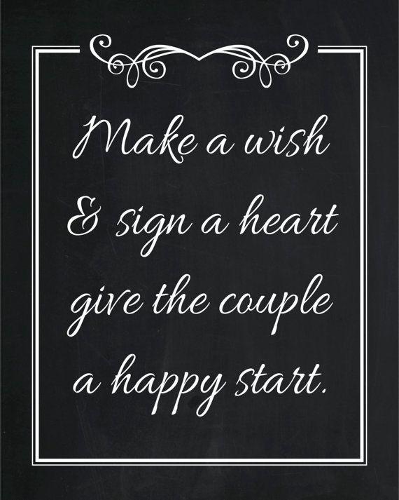 Wedding Wishing Well Chalkboard Poster Print by AmyGemptonDesign