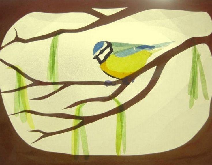 Blaumeise von Art 4 Windows auf DaWanda.com. koolmeesje of pimpelmees