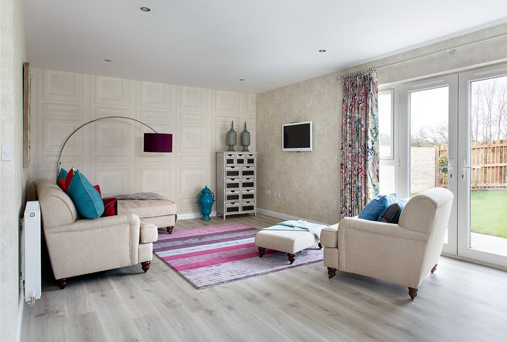 The spacious family room, part of the open plan kitchen/lounge/living area of the Oakleigh showhome at Walker Group's Hopefield Park