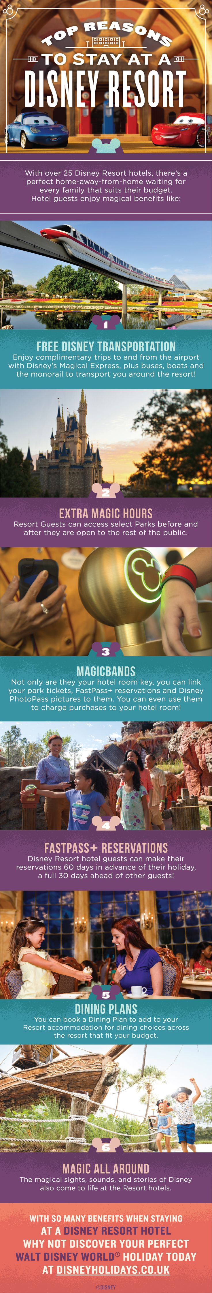 Check out our top reasons to stay at a Walt Disney World Resort hotel and discover all of the amazing benefits that you can enjoy!
