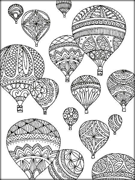 Mandala Hot Air Balloon Coloring Sheets Coloring Pages Adult