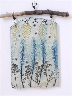 Plaque 1 Achillea Leaves - Shirley Vauvelle