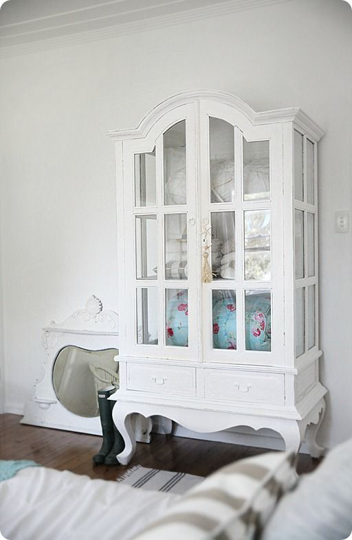 Beach Cottage DIY white paint makeover, the armoire