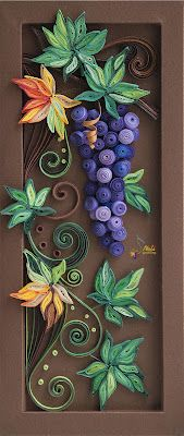 neli: Quilling panel _ 6  I absolutely love this! Might have to give quilling a try.