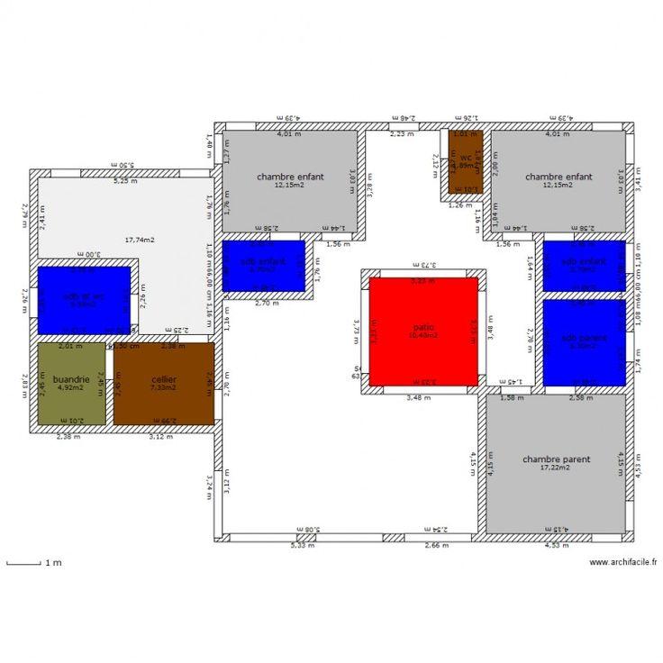 Les 46 meilleures images du tableau maison patio sur for Plan maison patio