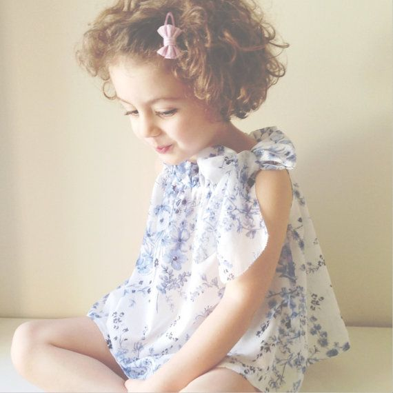 Floral elegant blouse for baby girls