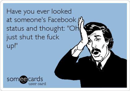 Facebook statuses #Ikr