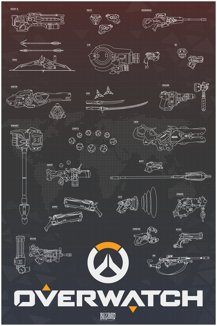 Overwatch Designs - Created by Ollie Hoff