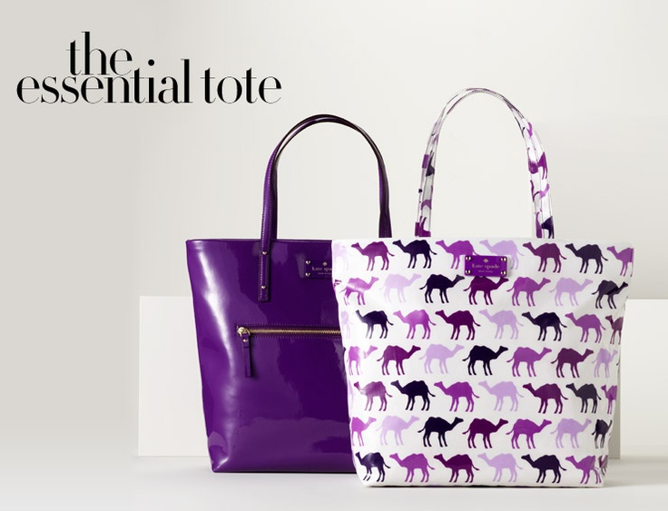 the essential tote....Kate Spade...I love the purple