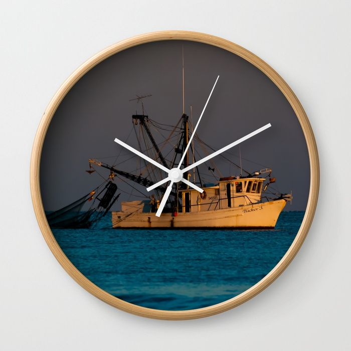 Buy Tucker J fishing boat Wall Clock by scotthervieux. Worldwide shipping available at Society6.com. Just one of millions of high quality products available.