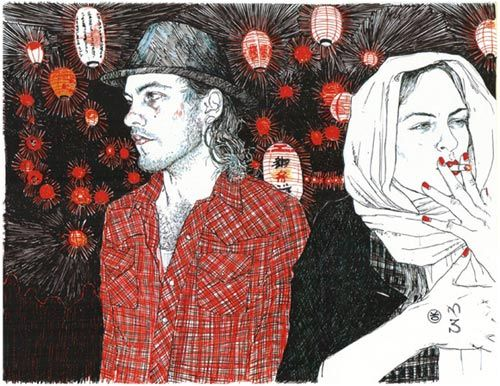 Hope Gangloff art artist illustrator drawing illustration. She draws with a ballpoint pen.