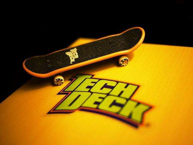 Tech Deck! So middle school! and they even made fingerboards during wood class