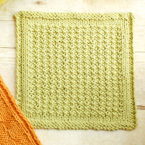 Washcloth Knitting Patterns For Beginners : Textured Knit Dishcloth Pattern Patterns, Dishcloth and Knits