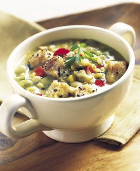 Sucatash Soup         Succotash Soup with Black Pepper Croutons Recipe  | Epicurious.com