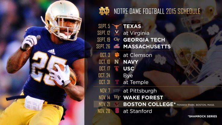 Notre Dame Football 2015 Schedule