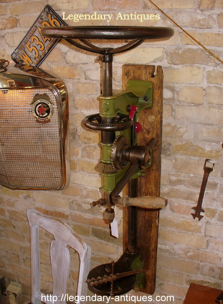 Industrial Wall Saw : New in the shop this industrial wall or post drill press