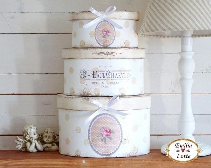 ~ ♥ ~  Paris boxes set romance ~ ♥ ~
