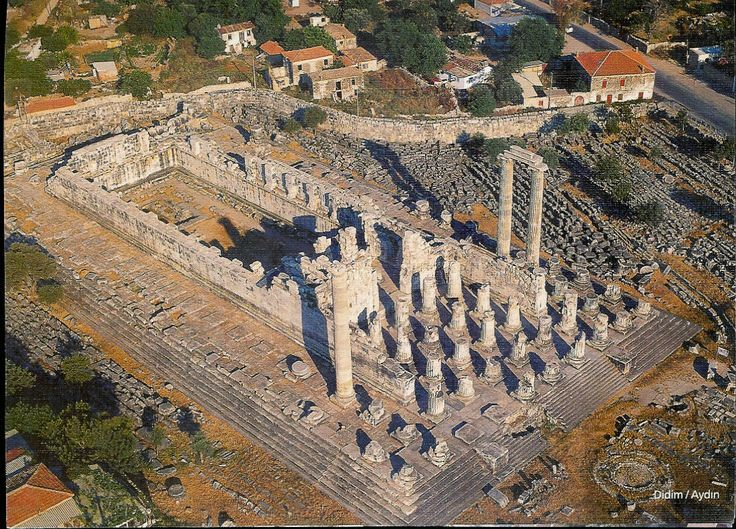 Temple of Apollo at Didyma  An ancient sanctuary of Apollo, site of one of the most famous oracles of the Aegean region, close to the west coast of Asia Minor
