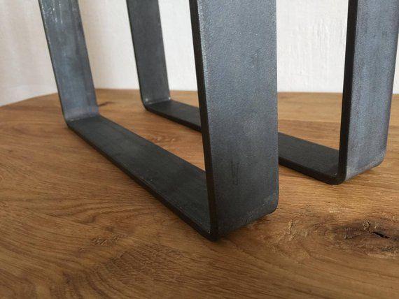 Set Aus 2 Stahl Bank Beine Stahl Couchtisch Beine Metall Etsy