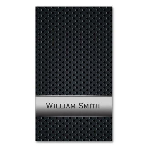 Steel striped dark metal business card #BusinessCard #Design #metal #custom