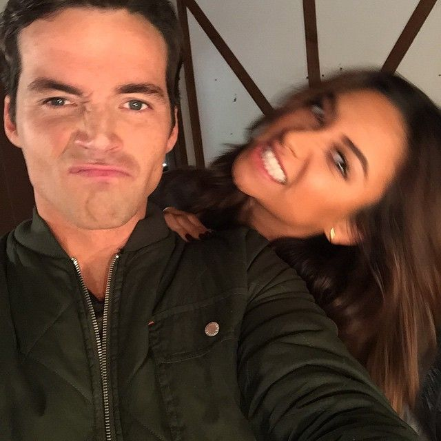 Shay Mitchell and Ian Harding are so cute in this selfie. | Pretty Little Liars