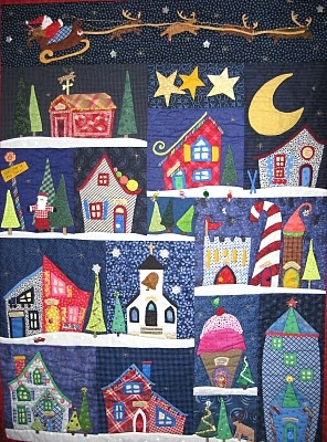 Great for Christmas, but it makes me want to turn it into Halloweentown from Nightmare Before Christmas - Jack Skellington and skeleton reindeer and all.